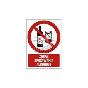Zakaz spożywania alkoholu BK - 148 x 105mm GC031BKPN