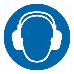 Nakaz stosowania ochrony słuchu D2 - 210 x 210mm GO003D2PN