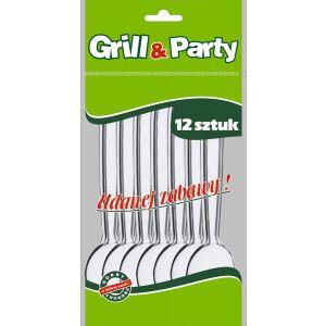 GRILL & PARTY - łyżki białe op. 12 sztuk
