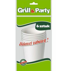 GRILL & PARTY ECO kubki papierowe 250ml op.6szt (k/30)
