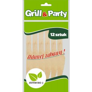 GRILL & PARTY BIO noże drewniane  op.12szt (k/100)