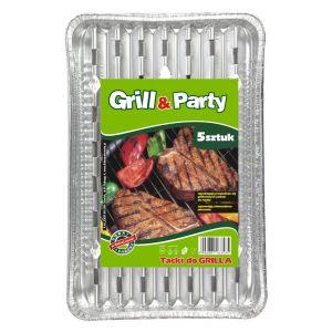 GRILL & PARTY - tacki aluminiowe duże, prostokątne op. 5 sztuk