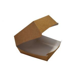 Pudełko HAMBURGER BRĄZOWY MAŁY op.200szt biało/brazowe 97x97x60 , bez druku TnG DO WYCZERPANIA ZAPASÓW