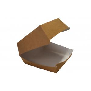 Pudełko hamburger duży, biało/brązowe, 115x115x75mm, bez nadruku, op. 200 sztuk