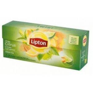 Tea LIPTON Green Tea, 25 bags, lemon