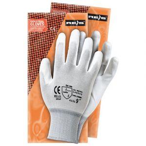 Rękawiczki nylonowe pokrywane białym poliuretanem Jobmaster 5-100PS, rozmiar 10-XXL