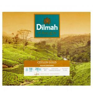 Herbata DILMAH Ceylon Gold, 100 torebek, op. 1 szt.