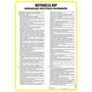 Instrukcja BHP mycia i dezynfekcji pomieszczeń magazynowych w zakładadzie produkcji spożywczej DN - 350 x 245mm IAG64DNHN