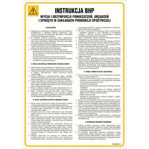 IAG24 Instrukcja BHP mycia i dezynfekcji pomieszczeń, urządzeń i sprzętu w zakładach produkcji