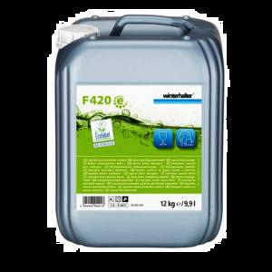 ECOLAB Winterhalter F420 12kg Specjalny środek czyszczący do słabo zabrudzonych naczyń, szkła i porcelany