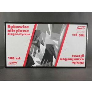 Rękawiczki nitryle czarne PLAST roz.L
