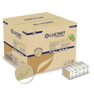 Napkins 1/8 EcoNatural 216 TN LUCART for dispenser with ThinkNatural N4 print, pkg. 6000 pieces