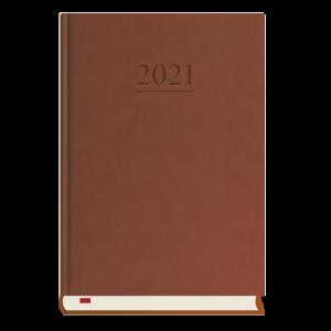 Kalendarz Menadżera 2021 A5 dzienny  c.brąz T-203V-S2 Michalczyk i Prokop