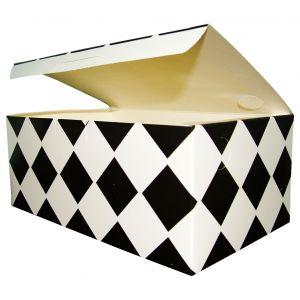 Pudełko kurczak duży, kratka czarna, rozmiar 205x125x85mm, cena za opakowanie 100 sztuk