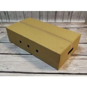 Karton transportowy brązowy 600x320x150 mm z rączkami i dziurkami op. 30 sztuk