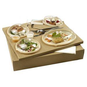Lunch Set - Polaris 4 tacki ivory 375x310x65mm, 25 kpl. recykling (k/1)