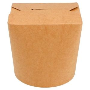 KEBAB BOX 750ml KRAFT op.50szt. dno okrągłe, zamykany