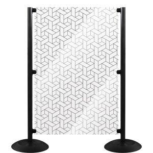 Zestaw separujący - wzór geometryczny, 2 kolumny i panel PVC