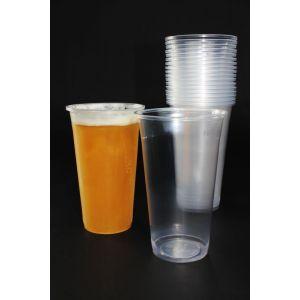 Kubek PP do piwa 0,5l PREMIUM gładki, bez przetłoczeń, średnica 95mm, cena za 50 sztuk