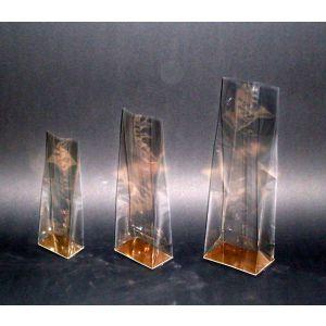 Torebki PP klockowe na herbatę 70x40x200 op.50szt + złota wkładka kartonowa