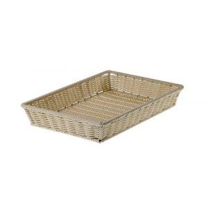 Prestige Maxi rectangular basket GN1/1 PP 52.5x32.5xh8cm, natural