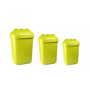 Kosz FALA 50L, zielony, uchylna klapa