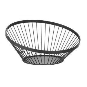 Fruit basket black, height 130 mm rrrr