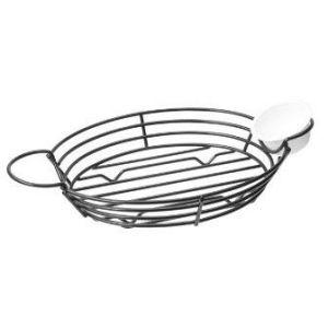 Koszyk metalowy owalny z uchwytami na sosy 325x175x50, cena za 1 sztukę
