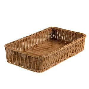 GN1/1 polyirattan basket 53x32,5x10