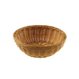 Koszyk z polirattanu okrągły 20cm x 6,5h naturalny