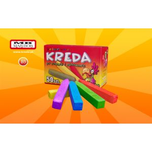School colour chalk 50 pieces MAR-BOR B5