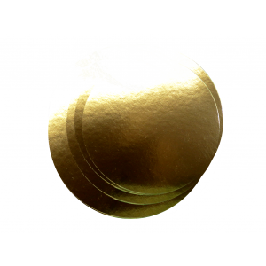 Podkład pod tort śr.26cm, złoty, op.100szt