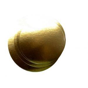 Golden cake pads dia. 12cm, 100pcs 800g