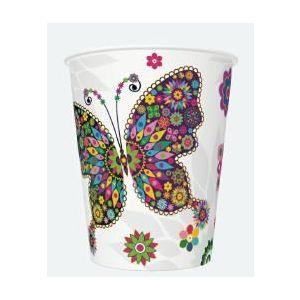 Kubki MAKI 250ml Ogólne 031701 Stained Glass Butterfly op. 8 sztuk