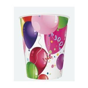 Kubki MAKI 250ml Ogólne 028601 Party Balloons op. 8 sztuk
