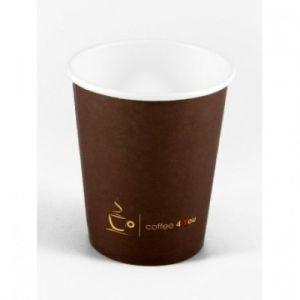 Kubek PAP/PE SW 250ml brązowy op.100szt (k/24) śr.80mm, Coffee 4 you, nadr.std 58 (222.507)