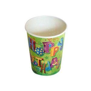 Kubki papierowe 260ml Happy Birthday II opakowanie 6 sztuk