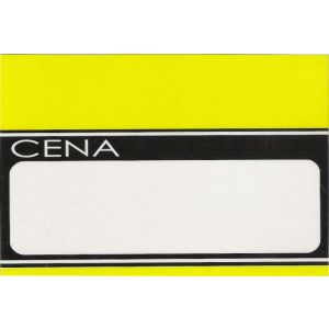 Cena laminowana A8 pasek żółty rozmiar 6x9,5cm, cena za opakowanie 50szt