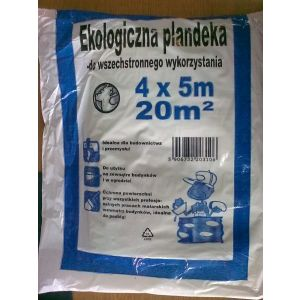 Folia malarska LDPE 4m x 5m gruba, 30 mikronów, cena za 1 sztuke