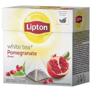 Herbata LIPTON biała herbata i granat, piramidki, 20 torebek, op. 1 szt.