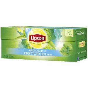 Tea LIPTON Green Tea, 25 bags, mint