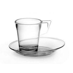 Filiżanki espresso 90ml LONG LiFE krystaliczne fi.5,7xh.6,6cm - nietłukące wykonane z poliwęglanu op. 6 sztuk
