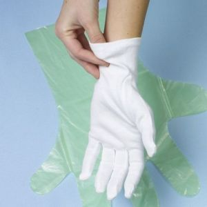 Rękawiczki bawełniane białe, rozmiar M, cena za opakowanie 12 par
