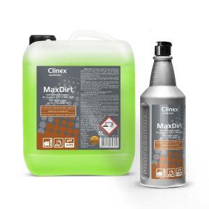 Clinex MaxDirt 5L do tłustych zabrudzeń Niskopieniący preparat do usuwania tłustych zabrudzeń