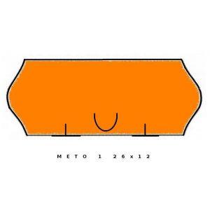 Fluor pomarańczowa METO jednorzędowa, 26x12 fala op.5szt.