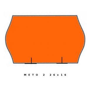 Fluor pomarańczowa METO dwurzędowa, 26x16 fala op.5szt.