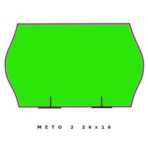 Fluor zielona METO dwurzędowa, 26x16 fala op.5szt.