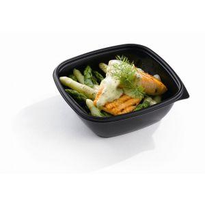 Miska kwadrat sałatki, dania, zupa czarna PP SABERT 750ml, cena za opakowanie 50szt