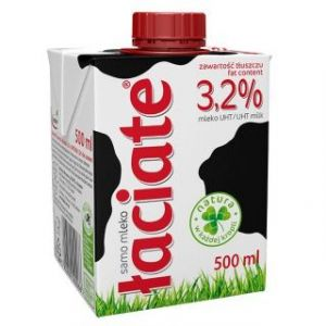 Mleko ŁACIATE 3,2%, 0,5 l