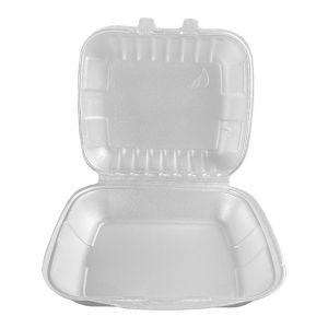 Pojemnik obiadowy styropianowy (menubox) niedzielony HUHTAMAKI Nowa Generacja op. 160 sztuk